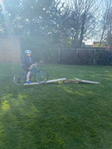 Finley-Cycling-in-the-garden