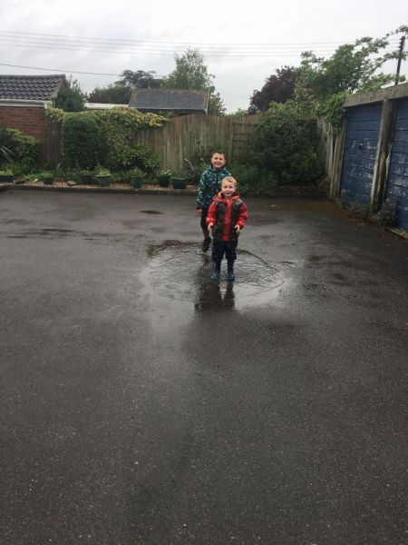 Alfie-in-puddles
