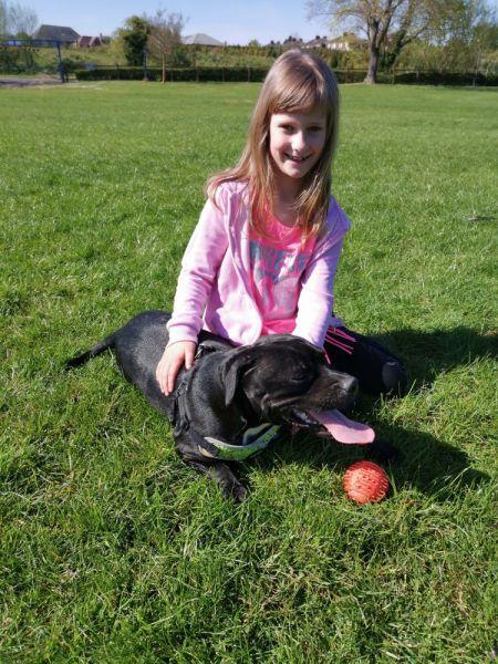Lena-and-dog